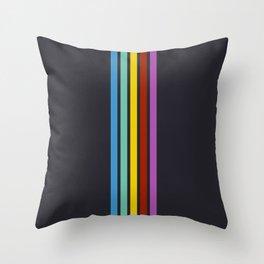 Trendy Abstract Rainbow Stripes 01 Throw Pillow