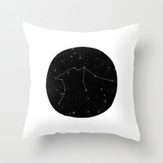 Aquarius constellation star sign zodiac black and white art gifts Throw Pillow