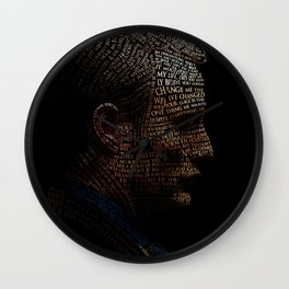 Hannibal Typography Wall Clock
