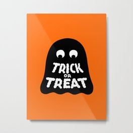 Trick or Treat – Ghost Metal Print