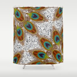 Pretty Peacock Feathers Shower Curtain