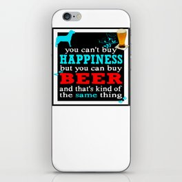 BEER AND HAPPINESS iPhone Skin