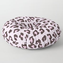 Leopard Print - Pink Chocolate Floor Pillow