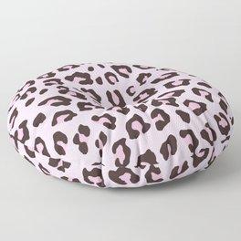 Leopard Print - Pink Chocolate Floor Pillow