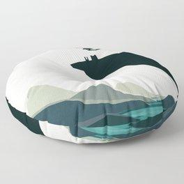 beauty trumped vertigo Floor Pillow