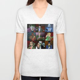 GOP AS BAT MAN ROGUES GALLERY FROM ANIMATED SERIES Unisex V-Neck