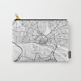 Hamburg Map White Carry-All Pouch