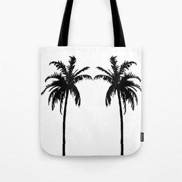Palm Trees Black & White Tote Bag