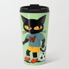 Football Metal Travel Mug