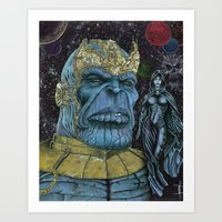 thanos Art Prints featuring Thanos of Titan by GraphixRob Studios