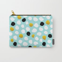pois noirs blancs or Carry-All Pouch