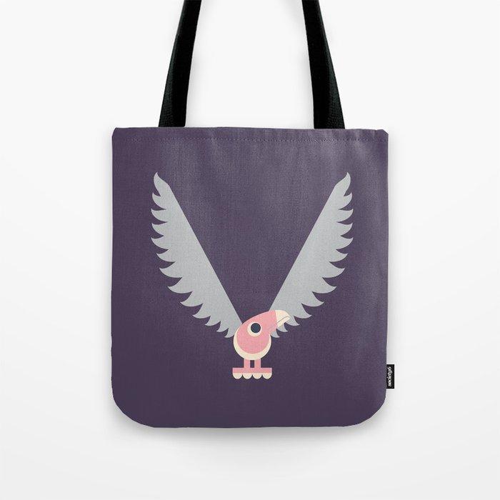 Letter V // Animal Alphabet // Vulture Monogram Tote Bag