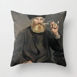 Édouard Manet - The Smoker Throw Pillow