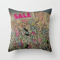 sale Throw Pillows featuring Sale by Matt Jeffs