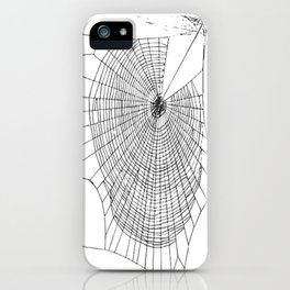 A Large Illustration Of A Spider's Web iPhone Case