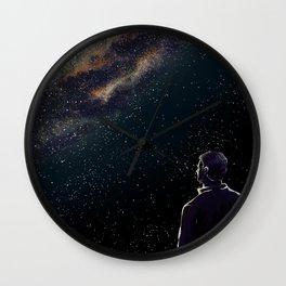 Rodney Under The Milky Way Wall Clock