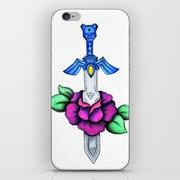 sword iPhone & iPod Skins featuring Master Sword by creativeesc