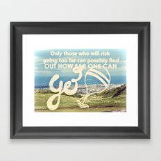 Adventure Quote, hot air balloon Framed Art Print