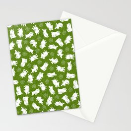 Ditsy Goat Green Stationery Cards