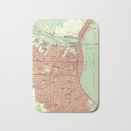 Vintage Map of Corpus Christi Texas (1951) Bath Mat