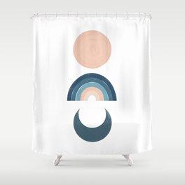 Moon Sun Rainbow Shower Curtain