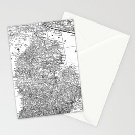 Vintage Map of Michigan (1909) Stationery Cards