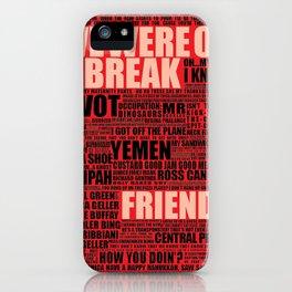 Friends (red) iPhone Case