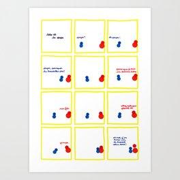 Toto et le papa - page 1/2 Art Print