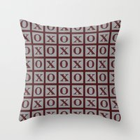 xoxo Throw Pillows featuring XOXO by LLL Creations