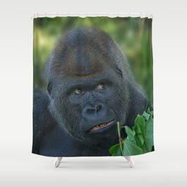 Silverback Got His Eye One Some More Leaves Shower Curtain