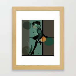 The Girl and the Moon Framed Art Print
