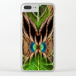 Leafy Pandanus Clear iPhone Case