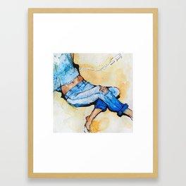 Jeans Beach Bum Framed Art Print