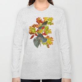 Vintage Canada Jay Illustration Long Sleeve T-shirt