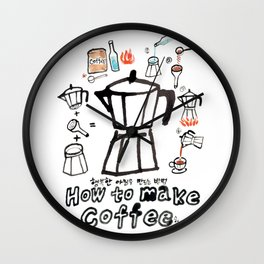 How to make coffee! Wall Clock