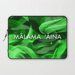 MALAMA AINA - TYPOGRAPHY Laptop Sleeve