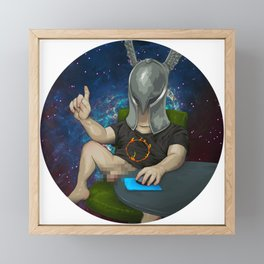 Sam The Shirtcockin Space Pimp Framed Mini Art Print