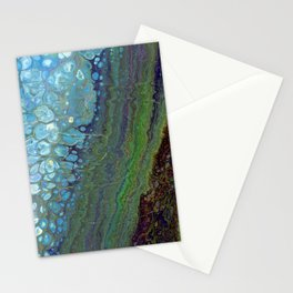 Age And Beauty - Original, abstract, fluid, marbled painting Stationery Cards