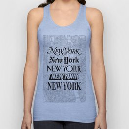 New York City black and white New York poster I love heart NYC Design black-white home wall decor Unisex Tank Top