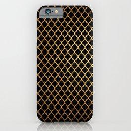 Black and Gold Quatrefoil iPhone Case
