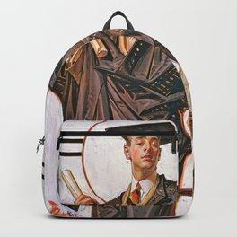 Joseph Christian Leyendecker - June Graduation - Digital Remastered Edition Backpack