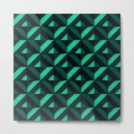 Concrete wall - Emerald green Metal Print