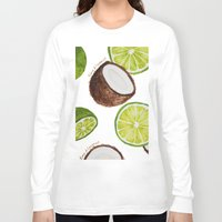 coconut wishes Long Sleeve T-shirts featuring Lime & Coconut  by Nora Buschman