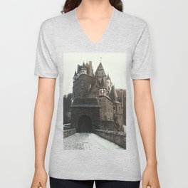 Finally, a Castle - landscape photography Unisex V-Neck