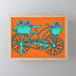 Pop Art Bike With Flower Basket Framed Mini Art Print