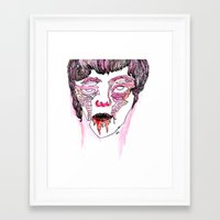 drunk Framed Art Prints featuring drunk by old opps