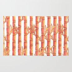 The Orange Bamboo Garden Rug