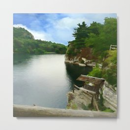 Majestic Mohonk Lake Metal Print