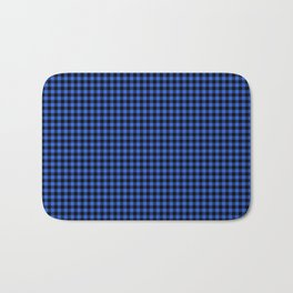 Mini Black and Royal Blue Cowboy Buffalo Check Bath Mat