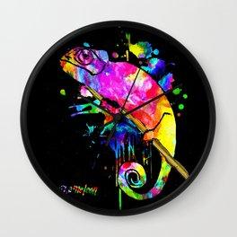 Chameleon Splash Wall Clock